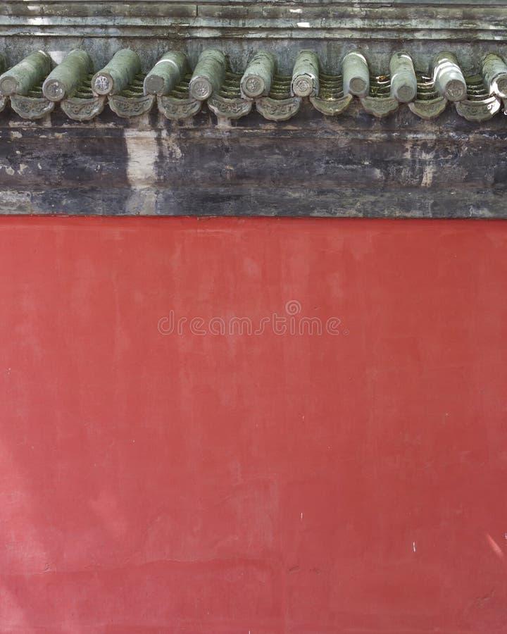 kinesisk röd vägg för bakgrund arkivfoto