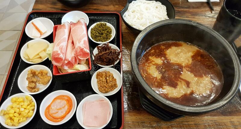 Kinesisk risnoodle Soup royaltyfri fotografi