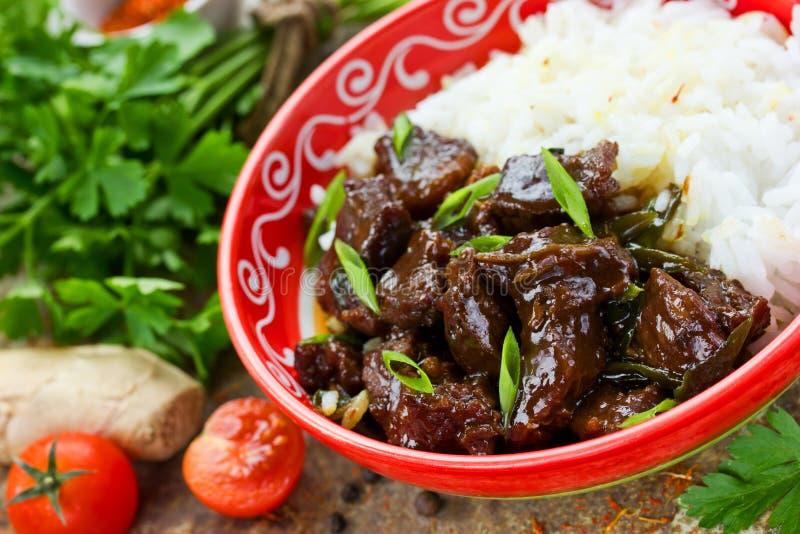 Kinesisk småfisk för mongoliannötköttuppståndelse royaltyfri fotografi