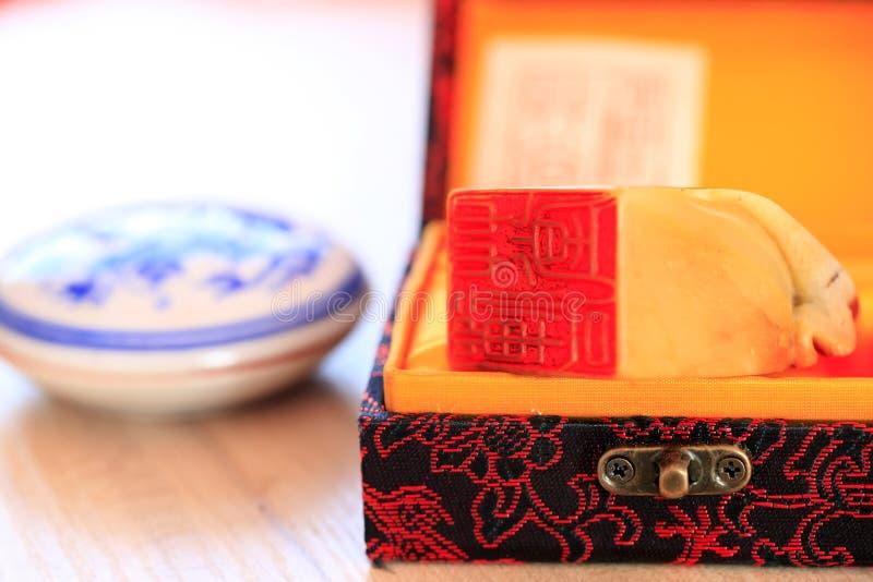 Kinesisk stenskyddsremsa arkivfoton