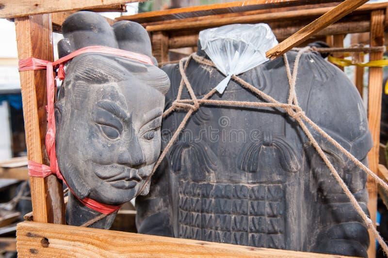 Kinesisk stensoldat fotografering för bildbyråer