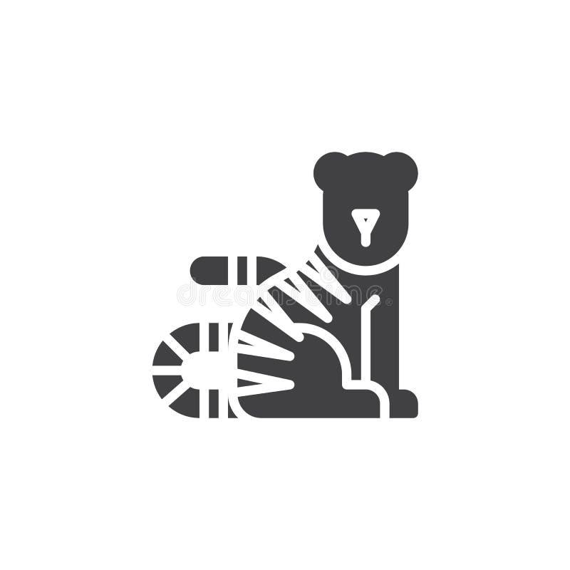Kinesisk symbol för zodiaktigervektor vektor illustrationer