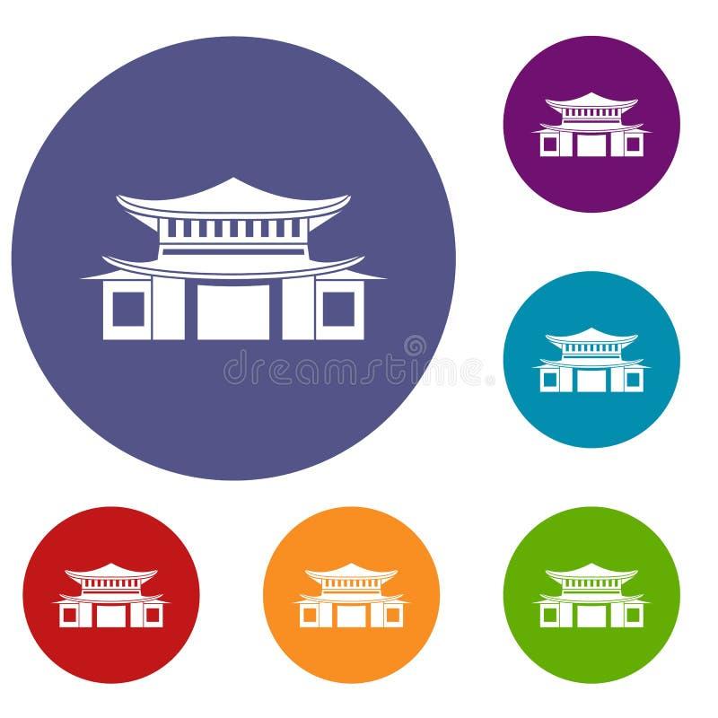 Kinesisk symbolsuppsättning stock illustrationer