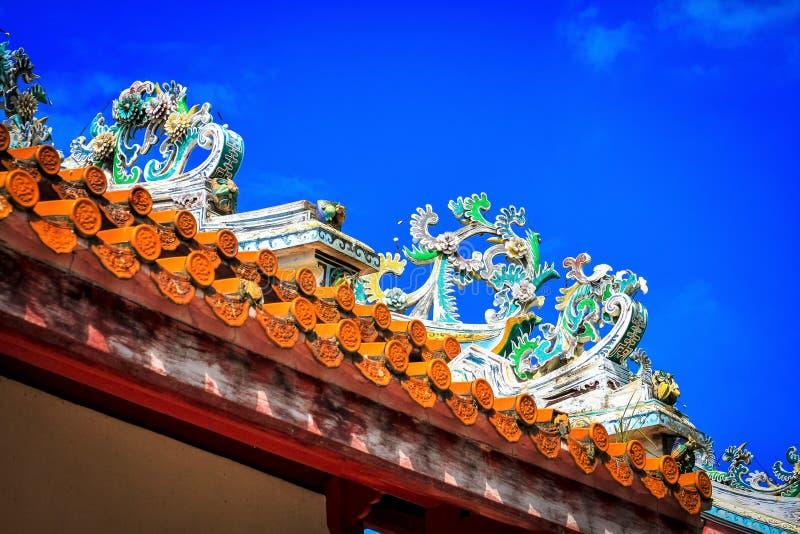 Kinesisk tak vid Bang Pa-In Palace royaltyfri foto