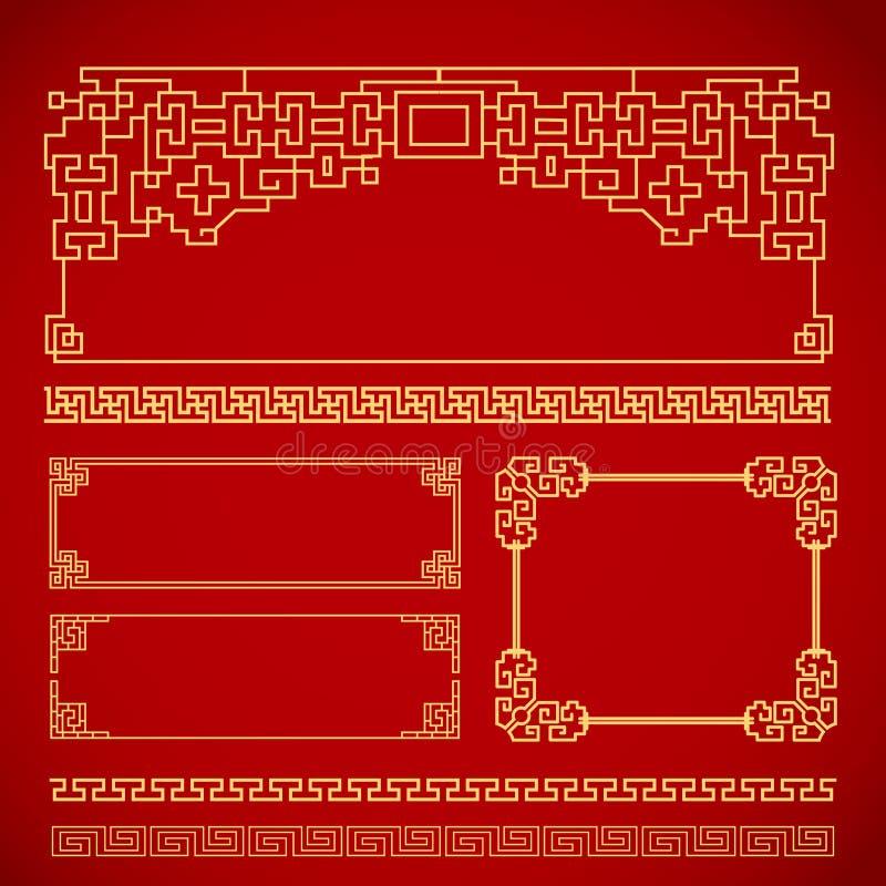 Kinesisk tappningram arkivbild