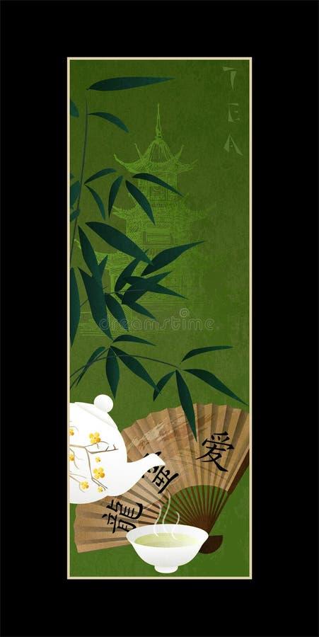 kinesisk tea royaltyfri illustrationer
