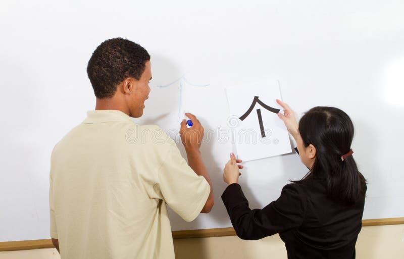 kinesisk teaching royaltyfria bilder
