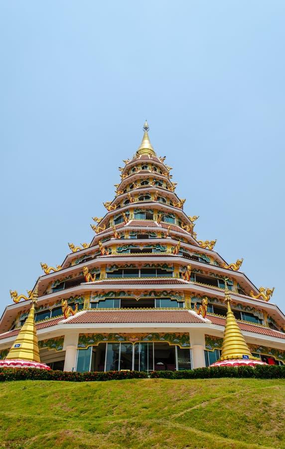 Kinesisk tempel Chiang Rai royaltyfri bild