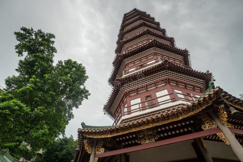 Kinesisk tempel i Guangzhou fotografering för bildbyråer