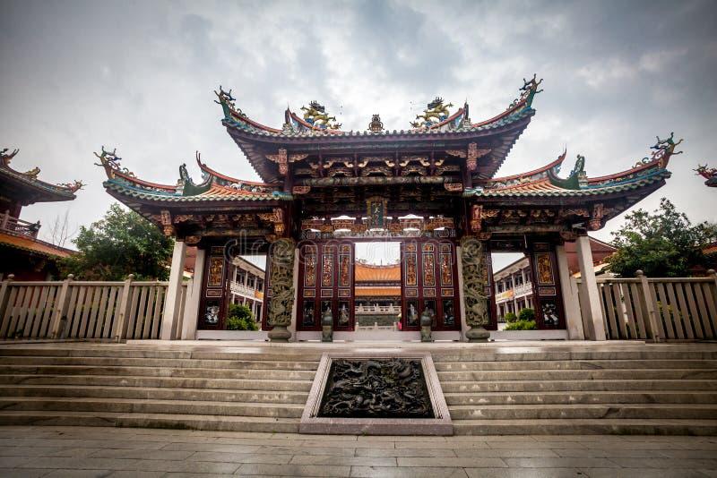 Kinesisk tempel i Macao royaltyfri bild