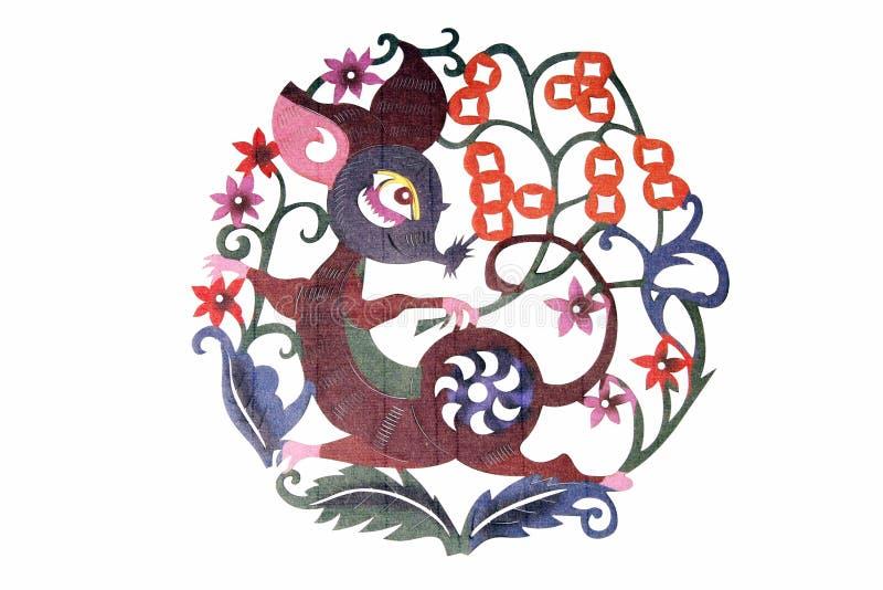Kinesisk torkdukekonstpappers--cut arkivbild