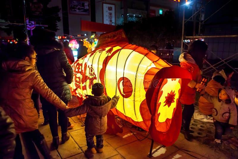 Kinesisk traditionell lyktafestival arkivbild