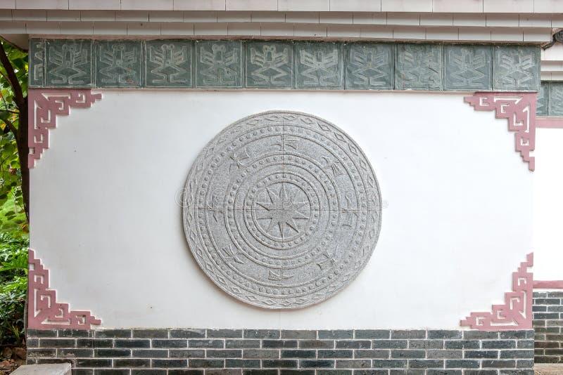 kinesisk traditionell vägg arkivbild