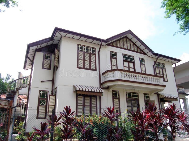 kinesisk traditionell villa arkivbild