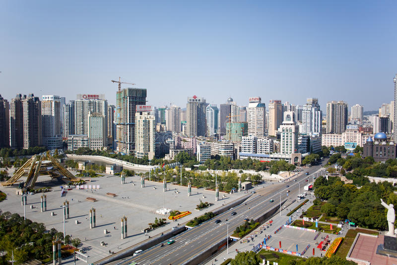 Kinesisk turist- stad - Guiyang landskap arkivfoton