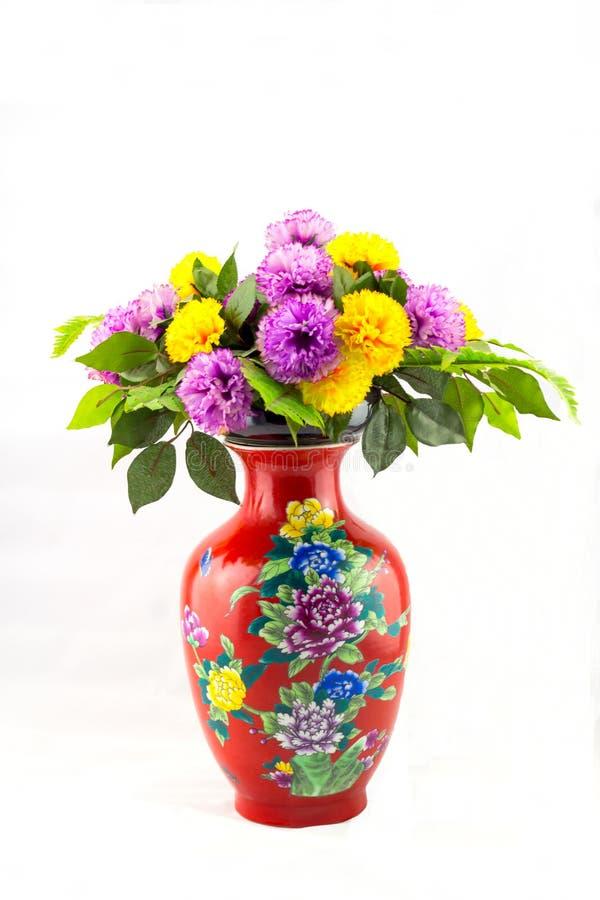 kinesisk vase royaltyfria bilder