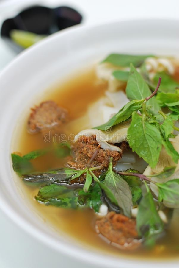 kinesisk vegetarian för nudelsoupstil arkivbilder