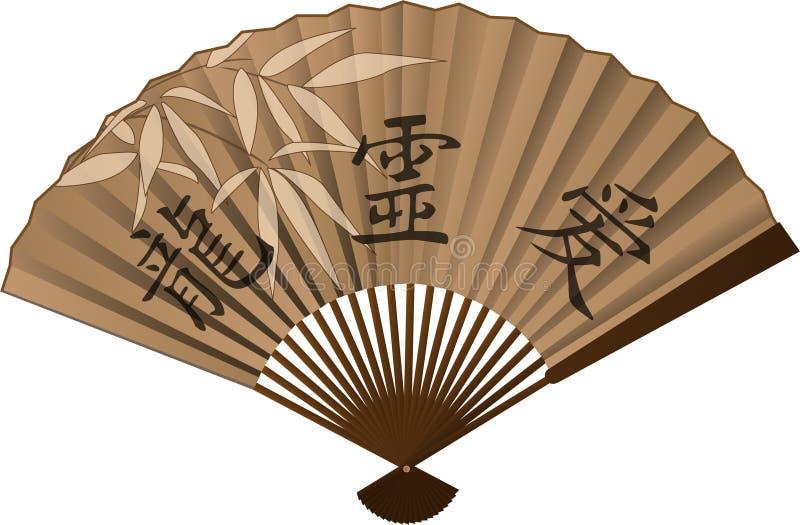 kinesisk ventilator stock illustrationer
