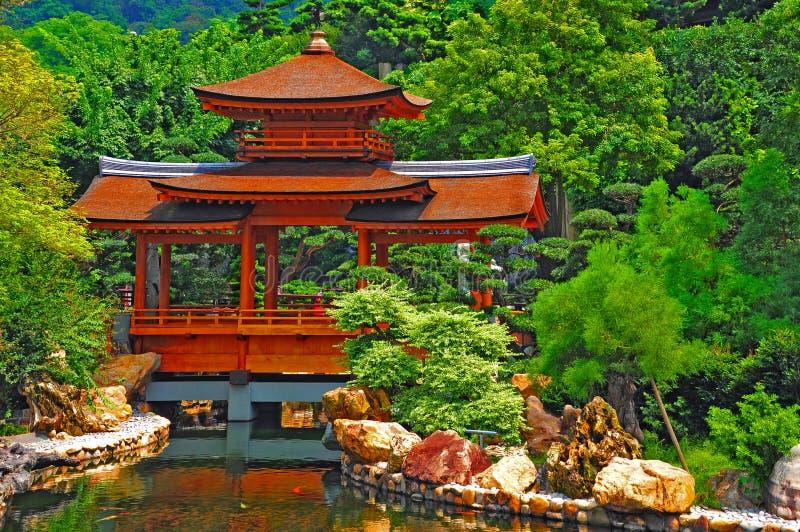 Kinesisk zenträdgård arkivbild