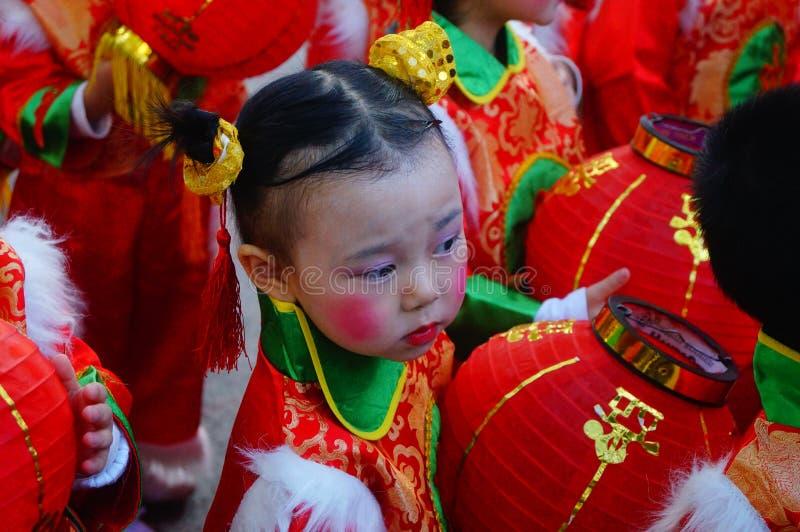 Kinesiska dagisbarn royaltyfria bilder