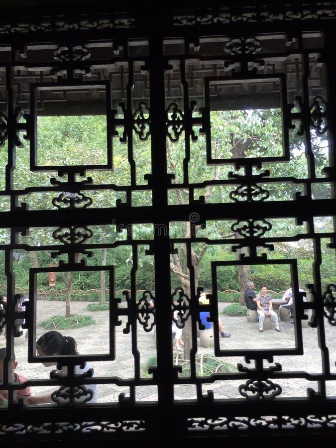 kinesiska fönster royaltyfri bild