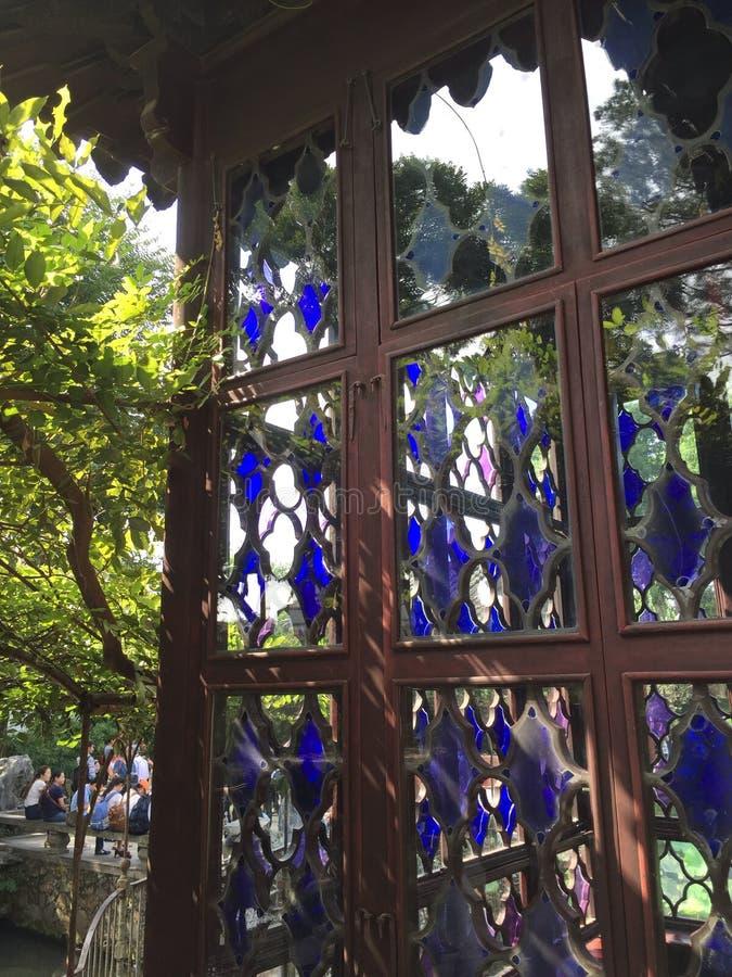 kinesiska fönster arkivfoto