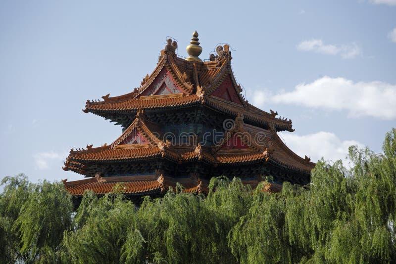 kinesiska forntida byggnader royaltyfri fotografi