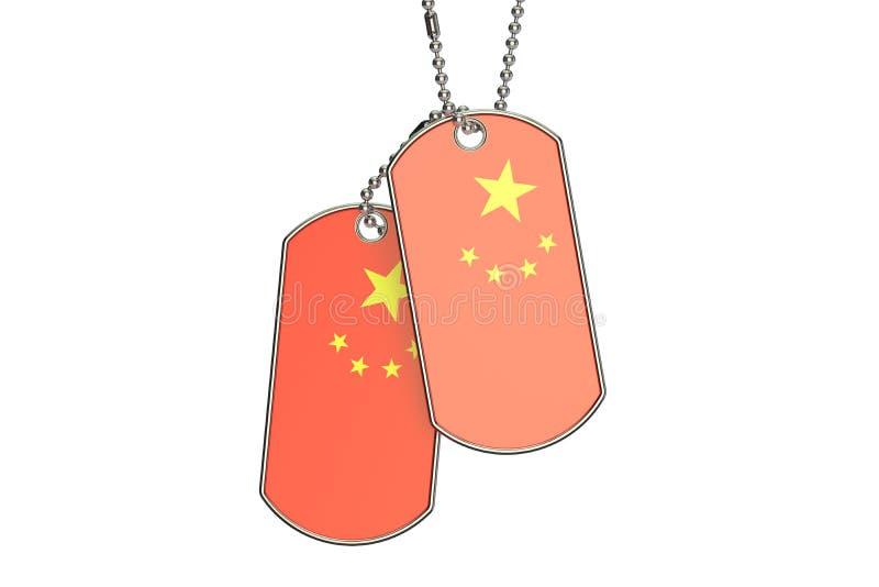 Kinesiska hundetiketter, tolkning 3D vektor illustrationer