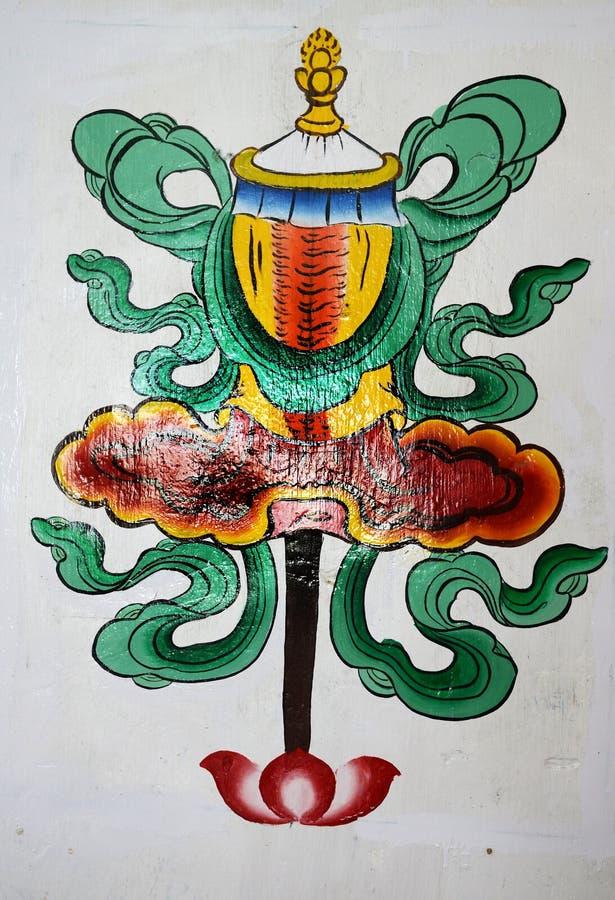 Kinesiska konstmålningar arkivbild