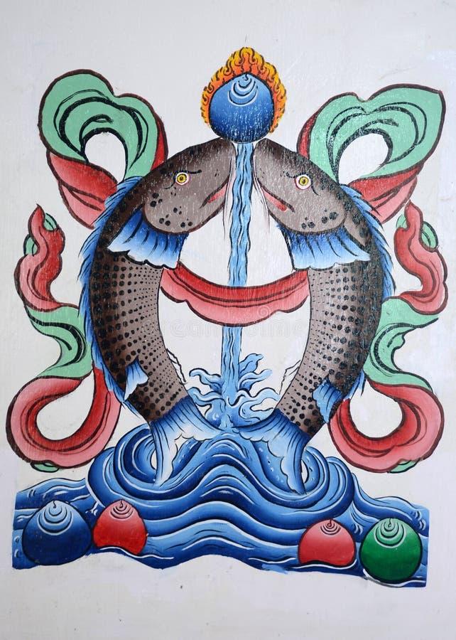 Kinesiska konstmålningar royaltyfria bilder