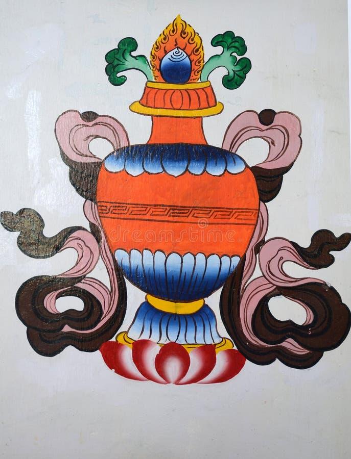 Kinesiska konstmålningar arkivfoto