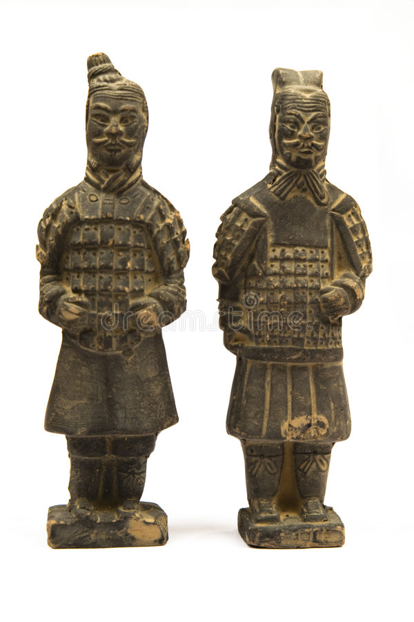 kinesiska krigare royaltyfri fotografi