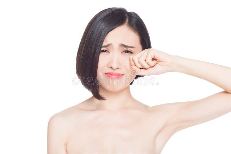 Kinesiska kvinnaansiktsuttryck arkivbilder
