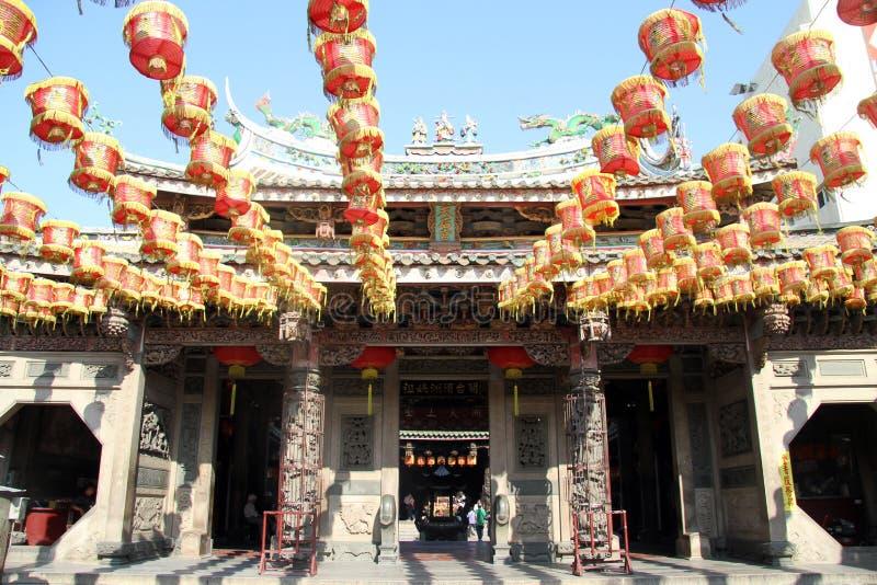 kinesiska lampor arkivbild