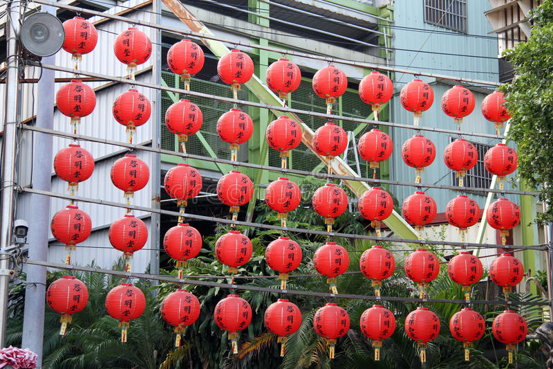 Kinesiska lampor royaltyfri foto