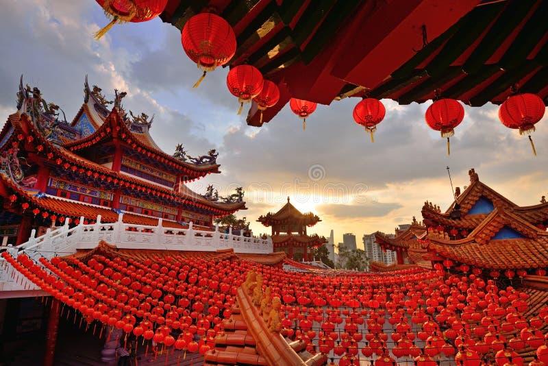 Kinesiska lyktagarneringar för nytt år royaltyfri fotografi