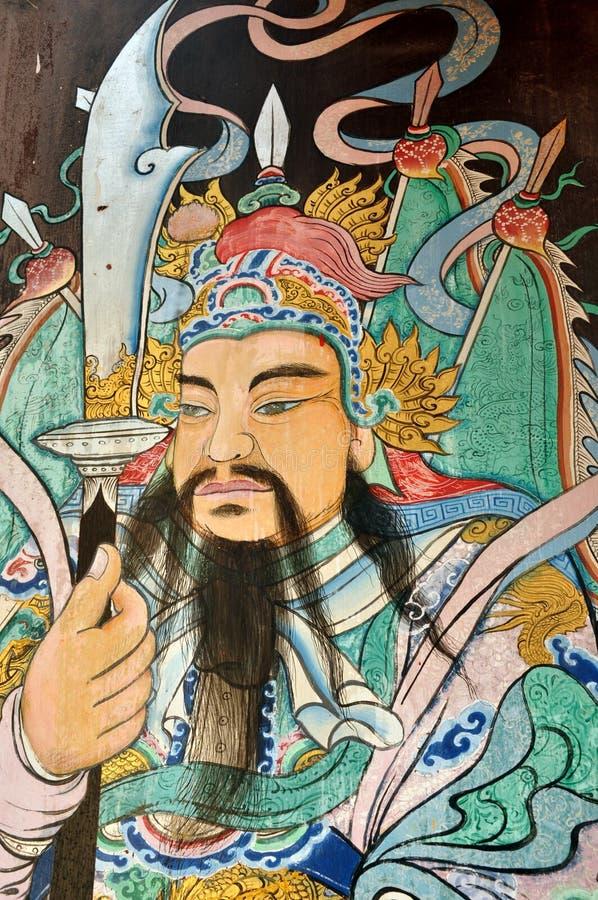 kinesiska målningskrigare arkivbilder