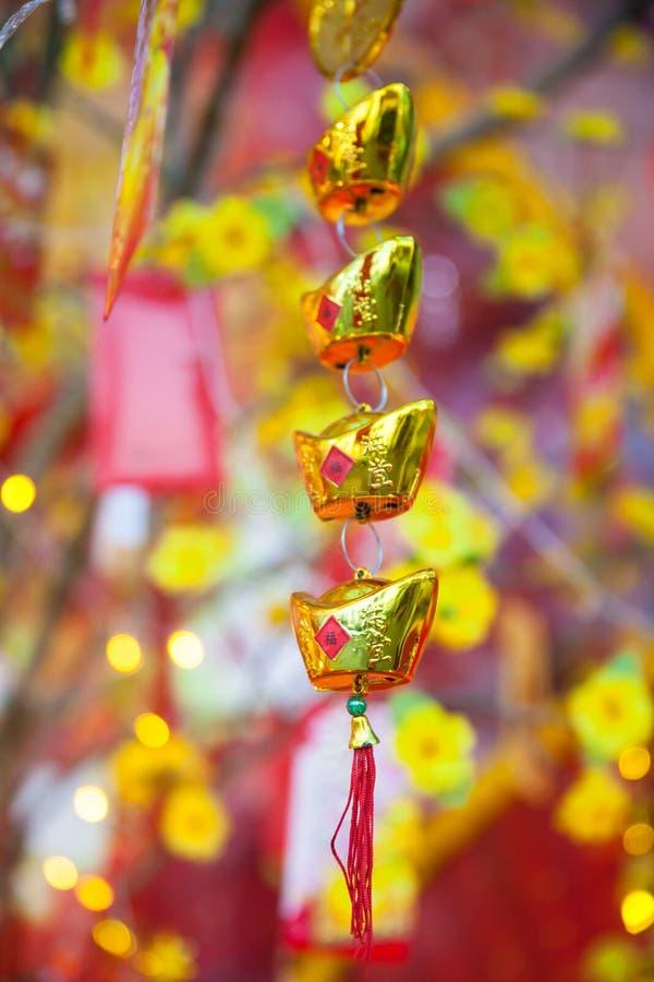 Kinesiska mån- otTet för nytt år garneringar, Vietnam royaltyfri fotografi