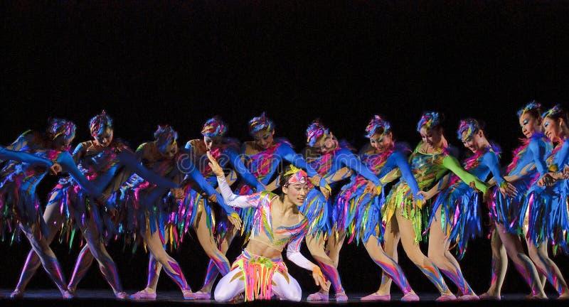 Kinesiska moderna dansare arkivfoto