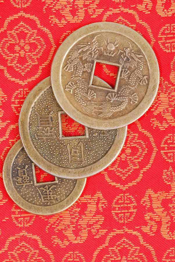 kinesiska mynt fotografering för bildbyråer