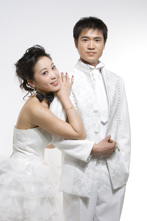 kinesiska par royaltyfri bild