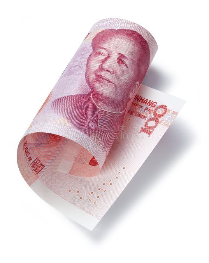 Kinesiska pengar hundra Yuan royaltyfria foton