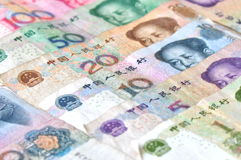 kinesiska sedlar royaltyfri fotografi