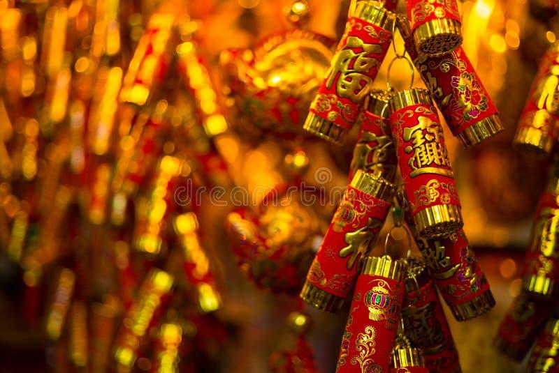 kinesiska smällare aktiverar nytt år arkivfoton