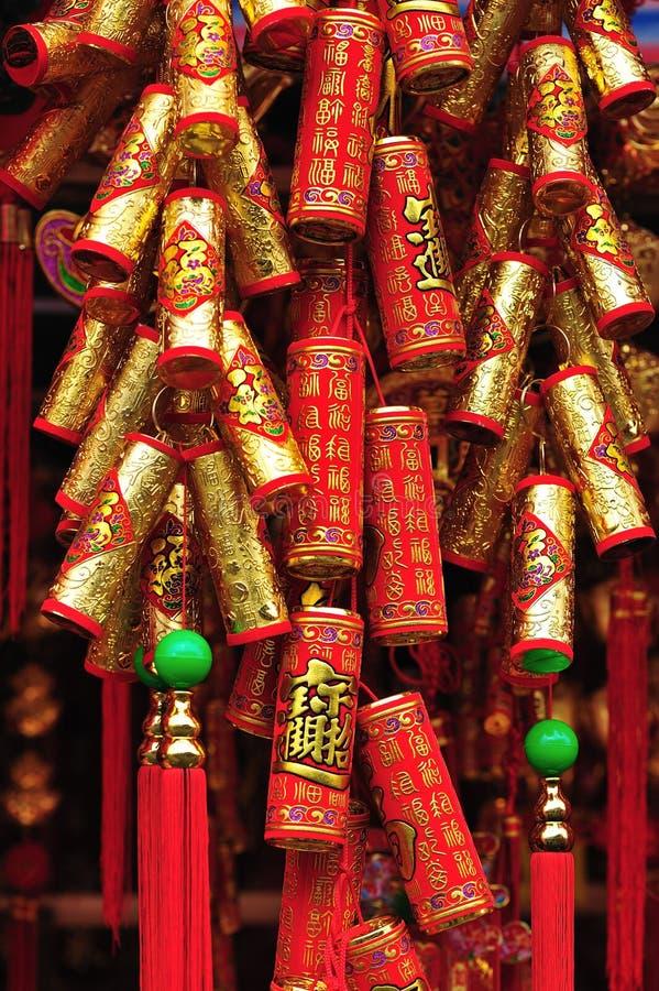 Kinesiska smällare för nytt år arkivbild
