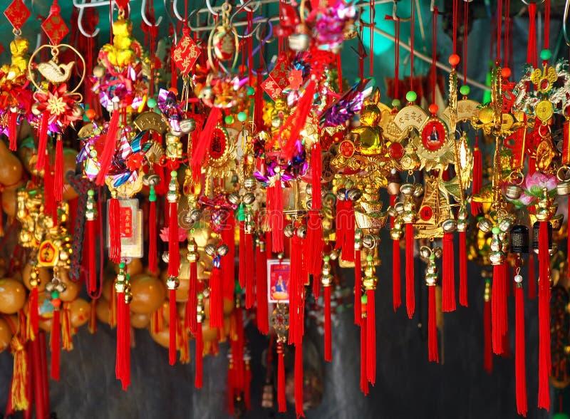 Kinesiska souvenir för nytt år royaltyfria bilder