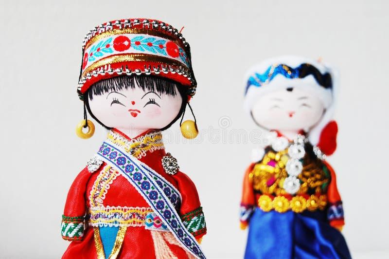 kinesiska traditionella dockavänner arkivbilder
