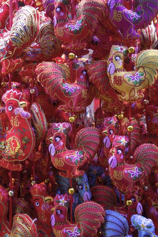 Kinesiska tuppleksaker för nytt år royaltyfri foto