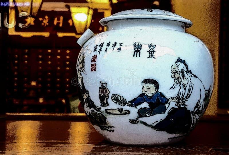 Kinesiskt asiatiskt japanskt traditionellt varmt för tetekannadrink arkivbilder