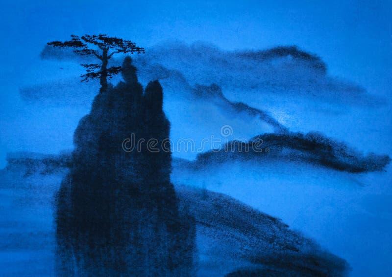 Kinesiskt berg arkivfoto